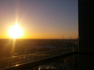 Sunset in Haymarket