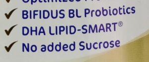 Nestle NAN nutrition marketing message DHA LIPID SMART registered trademark.