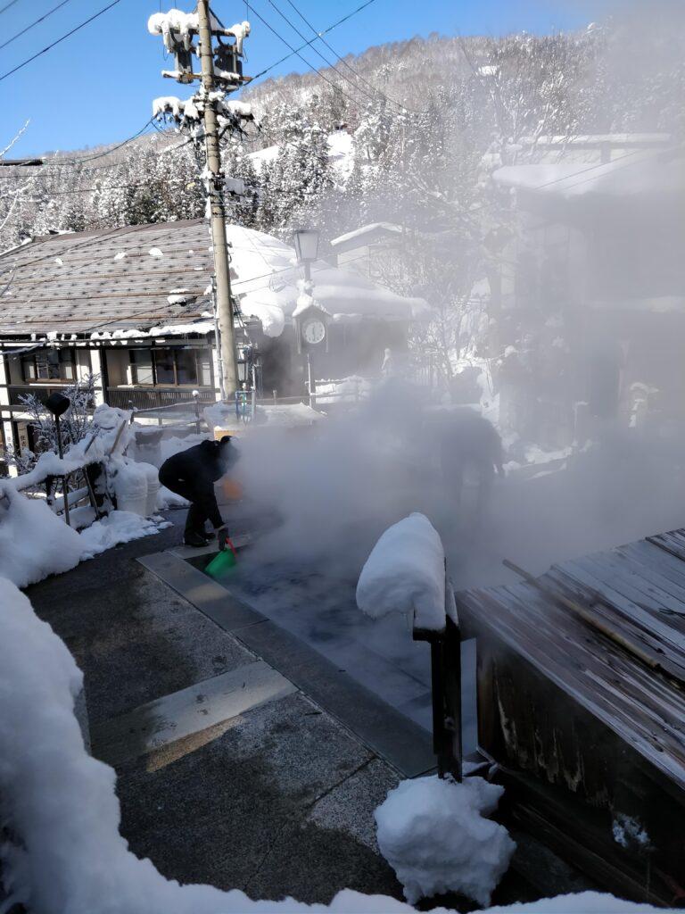 Cooking hot springs, Nozawa.