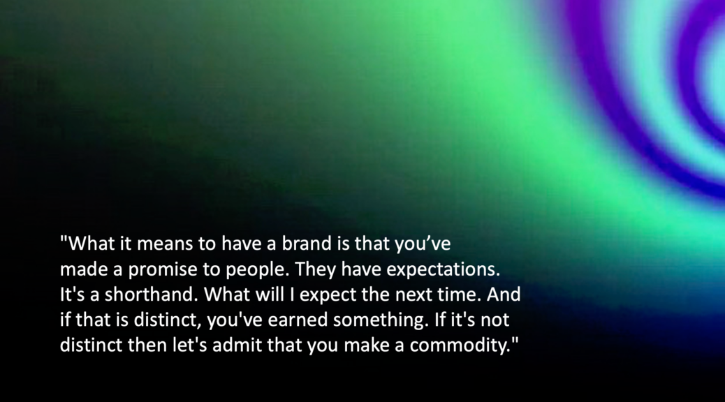 What it means to have a brand quote